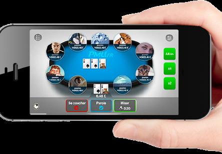 application de poker sur mobile
