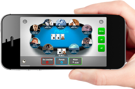 application de poker sur mobile